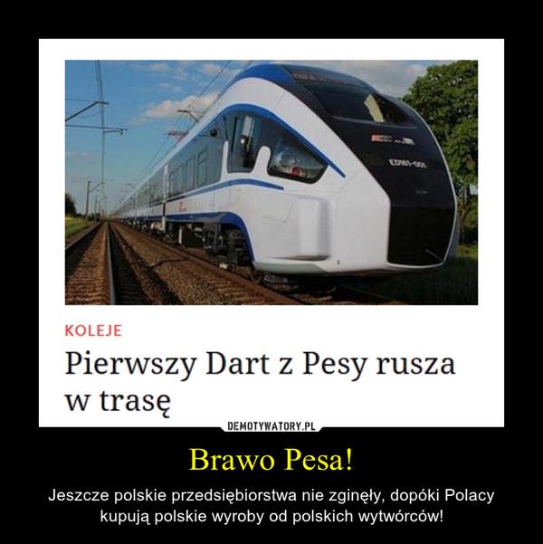 Brawo Pesa! – Jeszcze polskie przedsiębiorstwa nie zginęły, dopóki Polacy kupują polskie wyroby od polskich wytwórców!