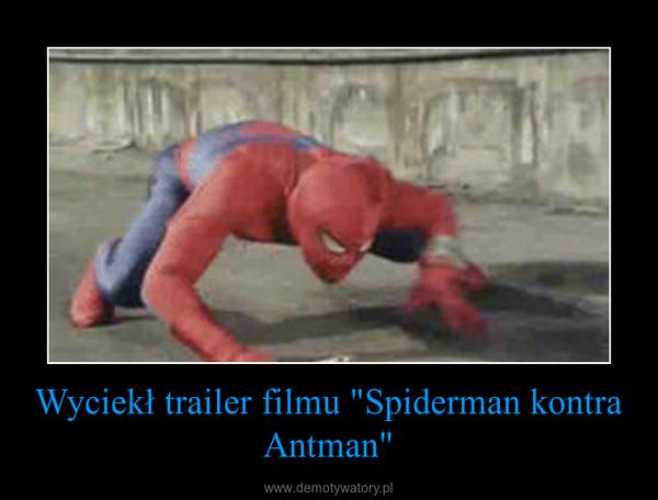 """Wyciekł trailer filmu """"Spiderman kontra Antman"""" –"""