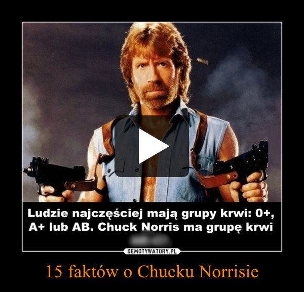15 faktów o Chucku Norrisie –