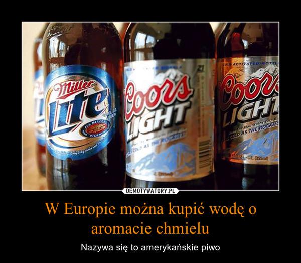 W Europie można kupić wodę o aromacie chmielu – Nazywa się to amerykańskie piwo