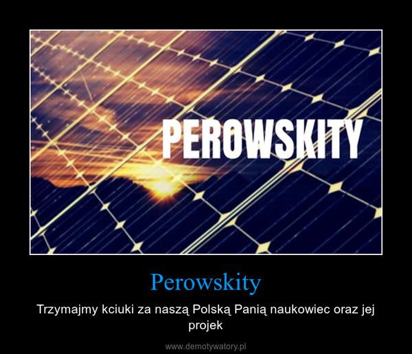 Perowskity – Trzymajmy kciuki za naszą Polską Panią naukowiec oraz jej projek