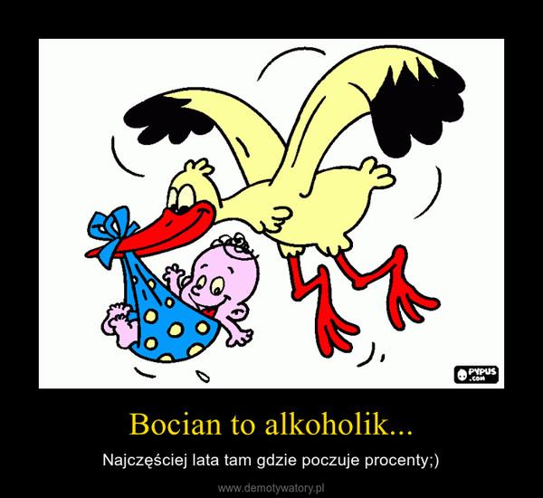 Bocian to alkoholik... – Najczęściej lata tam gdzie poczuje procenty;)