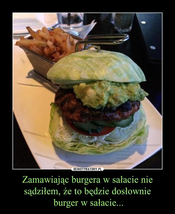 Zamawiając burgera w sałacie nie sądziłem, że to będzie dosłownie burger w sałacie... –
