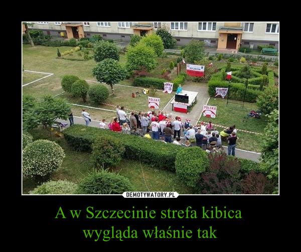 A w Szczecinie strefa kibica wygląda właśnie tak –