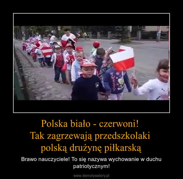 Polska biało - czerwoni! Tak zagrzewają przedszkolaki polską drużynę piłkarską – Brawo nauczyciele! To się nazywa wychowanie w duchu patriotycznym!