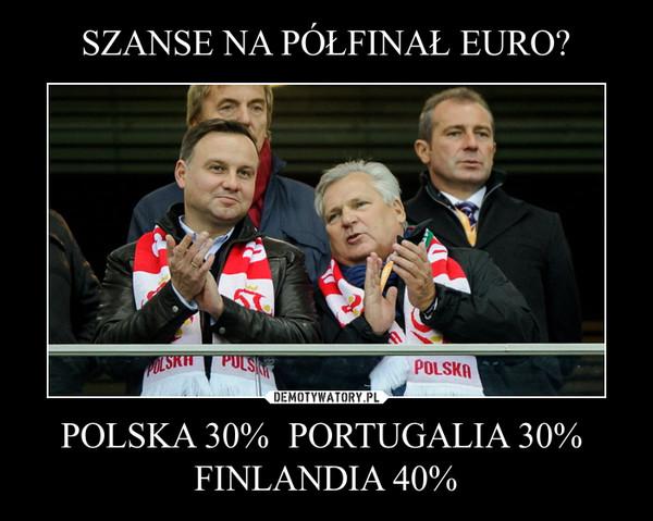 POLSKA 30%  PORTUGALIA 30%  FINLANDIA 40% –