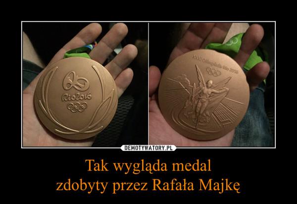 Tak wygląda medalzdobyty przez Rafała Majkę –