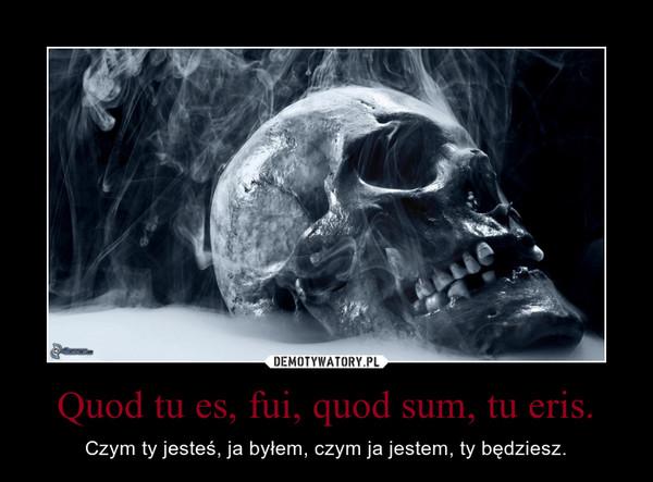 Quod tu es, fui, quod sum, tu eris. – Czym ty jesteś, ja byłem, czym ja jestem, ty będziesz.