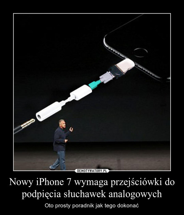 Nowy iPhone 7 wymaga przejściówki do podpięcia słuchawek analogowych – Oto prosty poradnik jak tego dokonać