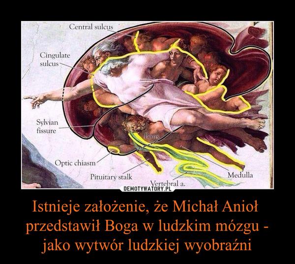 Istnieje założenie, że Michał Anioł  przedstawił Boga w ludzkim mózgu - jako wytwór ludzkiej wyobraźni –