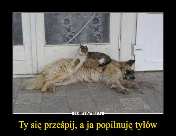 Ty się prześpij, a ja popilnuję tyłów –