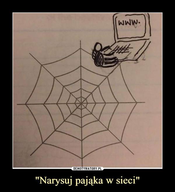 """""""Narysuj pająka w sieci"""" –"""