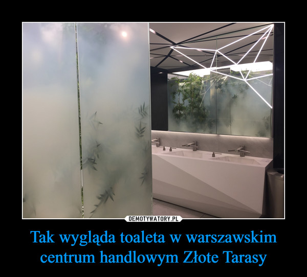 Tak wygląda toaleta w warszawskim centrum handlowym Złote Tarasy –