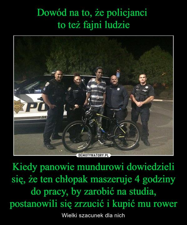 Kiedy panowie mundurowi dowiedzieli się, że ten chłopak maszeruje 4 godziny do pracy, by zarobić na studia, postanowili się zrzucić i kupić mu rower – Wielki szacunek dla nich
