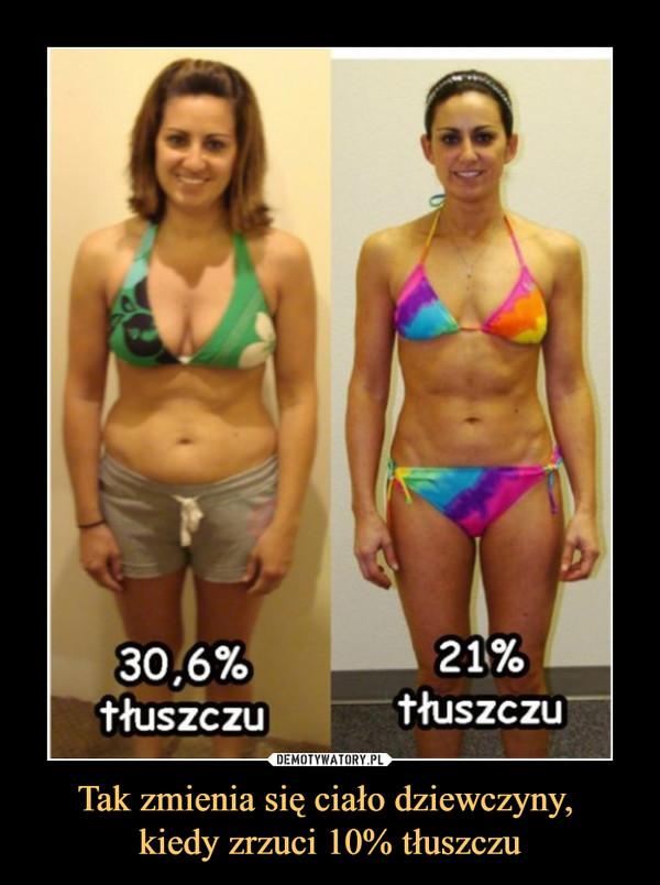 Tak zmienia się ciało dziewczyny, kiedy zrzuci 10% tłuszczu –  30,6% TŁUSZCZU21% TŁUSZCZU