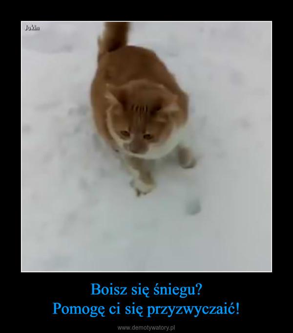 Boisz się śniegu?Pomogę ci się przyzwyczaić! –