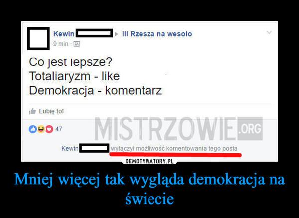 Mniej więcej tak wygląda demokracja na świecie –
