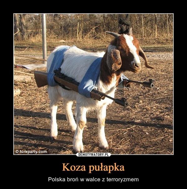Koza pułapka – Polska broń w walce z terroryzmem