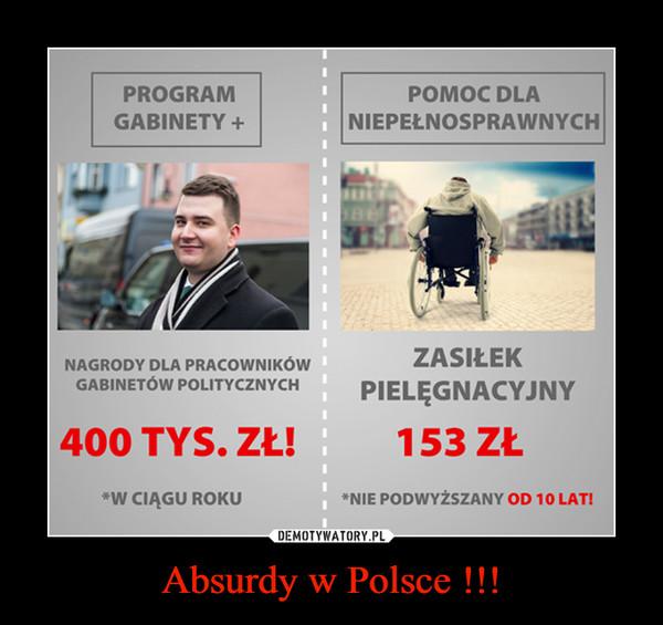 Absurdy w Polsce !!! –