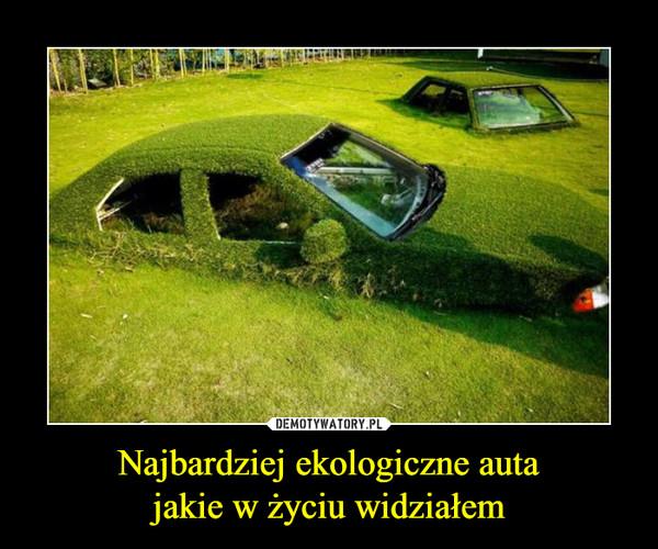 Najbardziej ekologiczne autajakie w życiu widziałem –