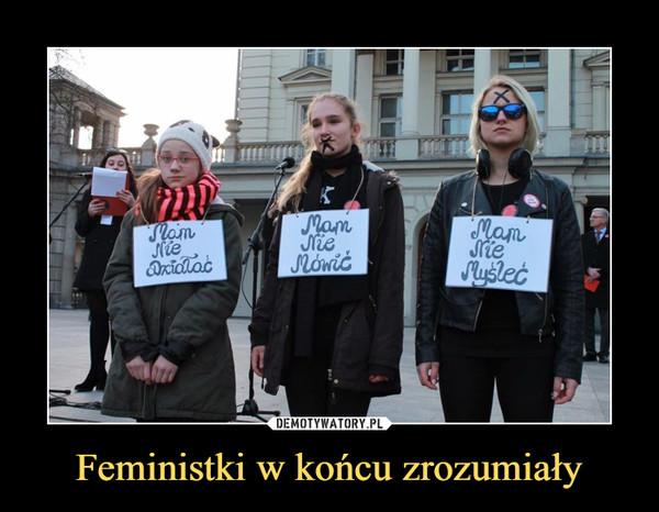 Feministki w końcu zrozumiały –