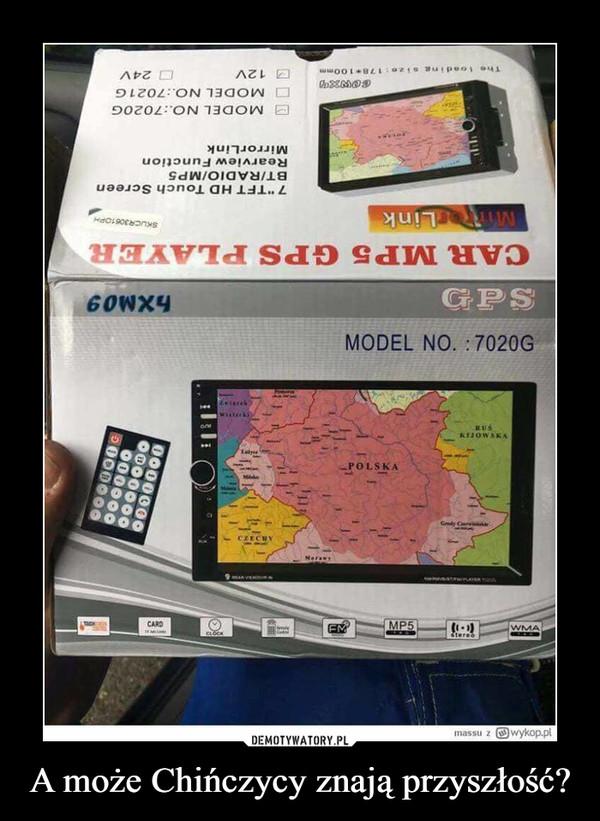 A może Chińczycy znają przyszłość? –  Polska Car MP5 GPS PLAYER Model no