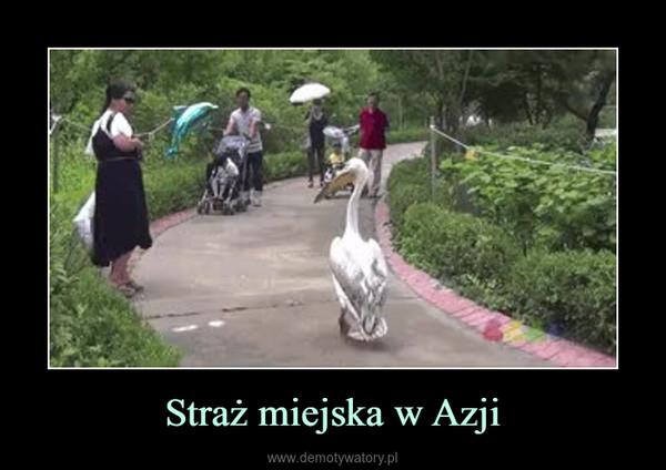 Straż miejska w Azji –