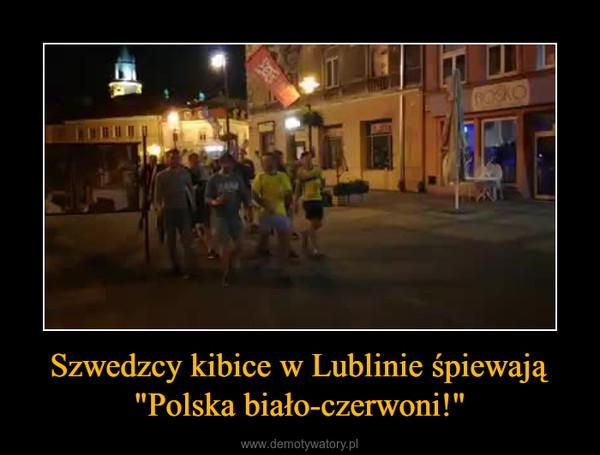"""Szwedzcy kibice w Lublinie śpiewają """"Polska biało-czerwoni!"""" –"""