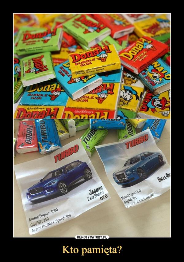 Kto pamięta? –  Donald Bubble Gum Turbo Jaguar Motor/Engine