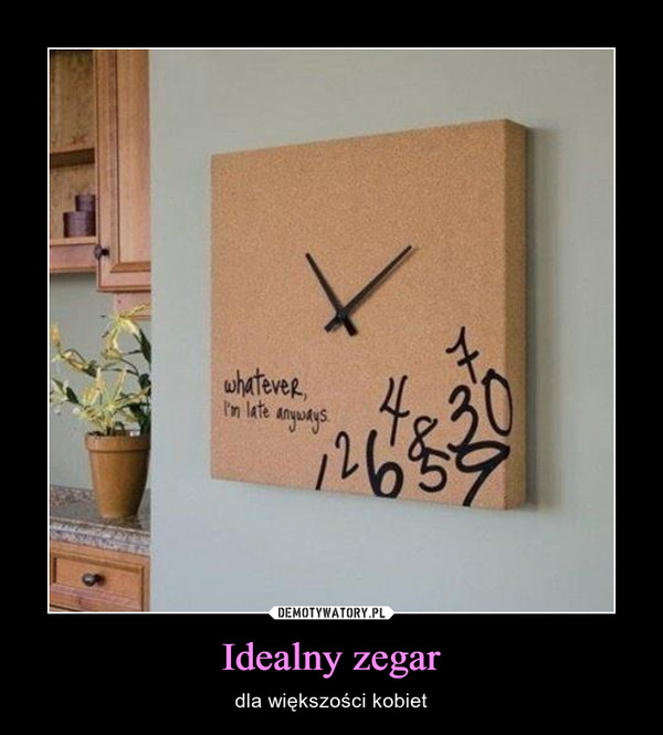 Idealny zegar – dla większości kobiet