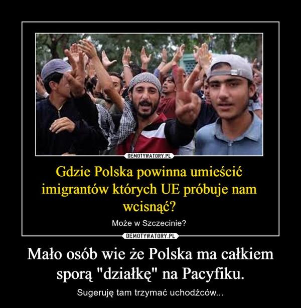 """Mało osób wie że Polska ma całkiem sporą """"działkę"""" na Pacyfiku. – Sugeruję tam trzymać uchodźców..."""