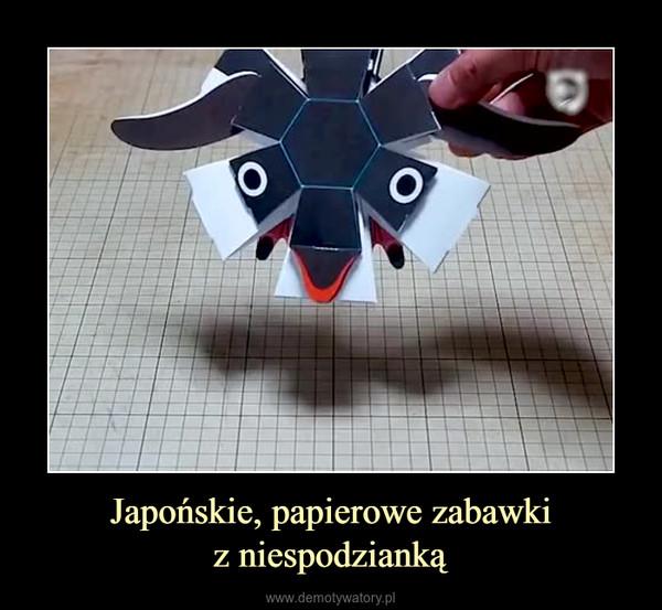 Japońskie, papierowe zabawkiz niespodzianką –