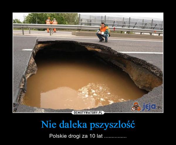 Nie daleka pszyszlość – Polskie drogi za 10 lat ...............