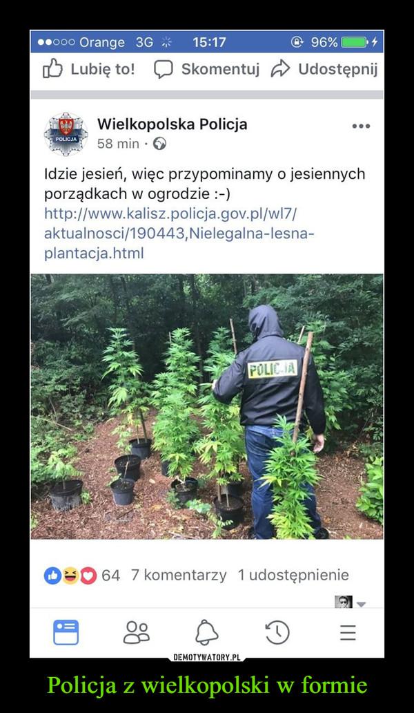 Policja z wielkopolski w formie –