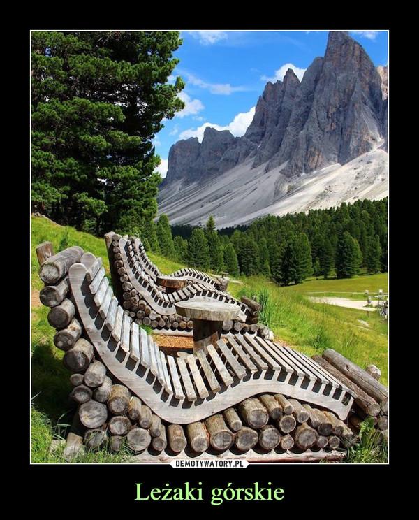 Leżaki górskie –