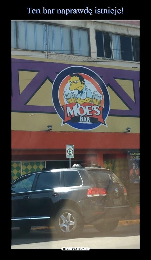 –  Moe's bar