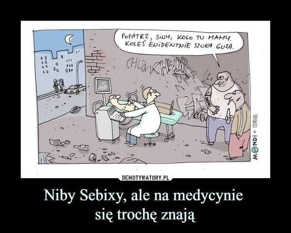 Niby Sebixy, ale na medycynie się trochę znają –