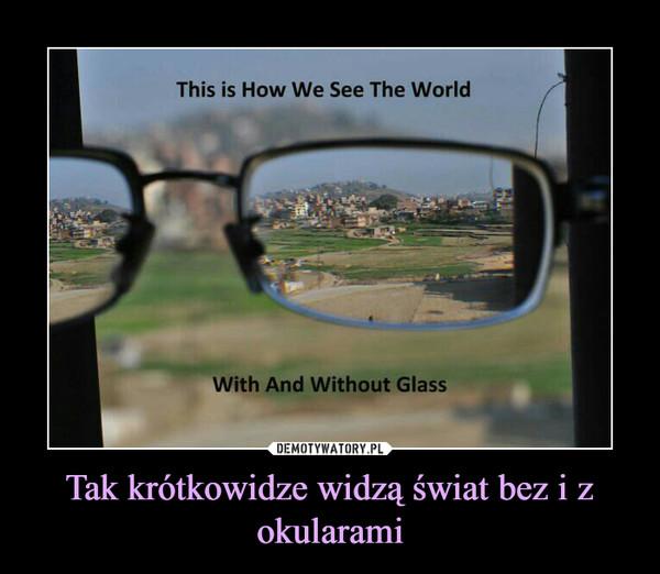 Tak krótkowidze widzą świat bez i z okularami –