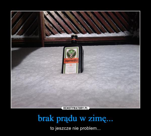brak prądu w zimę... – to jeszcze nie problem...