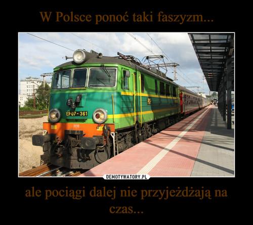 W Polsce ponoć taki faszyzm... ale pociągi dalej nie przyjeżdżają na czas...