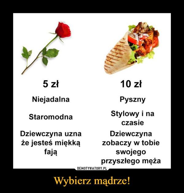 Wybierz mądrze! –