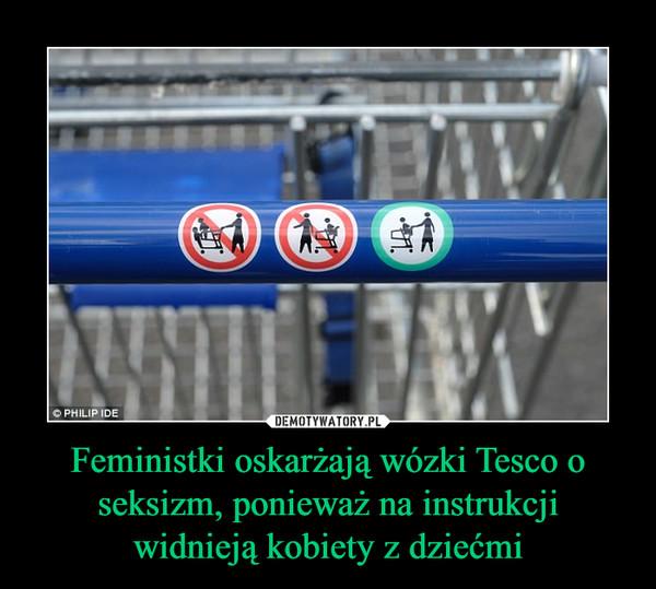 Feministki oskarżają wózki Tesco o seksizm, ponieważ na instrukcji widnieją kobiety z dziećmi –
