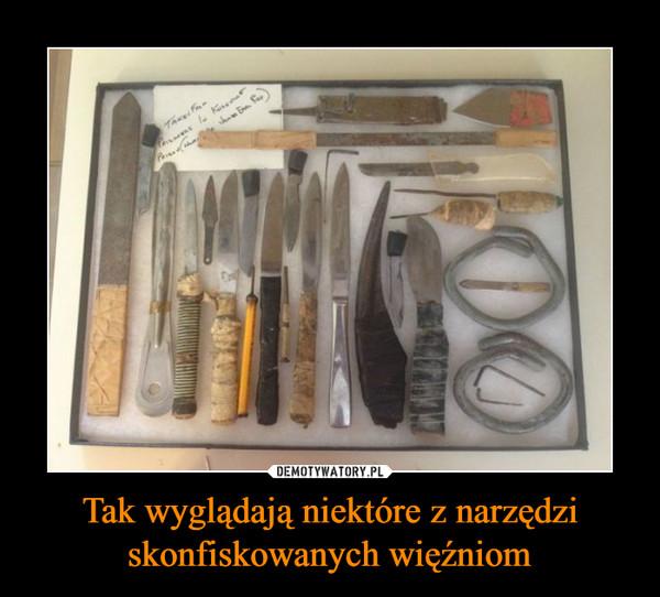 Tak wyglądają niektóre z narzędzi skonfiskowanych więźniom –