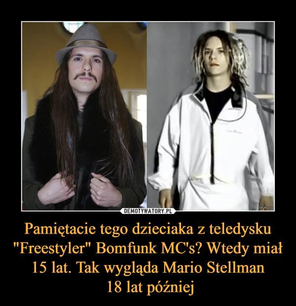 """Pamiętacie tego dzieciaka z teledysku """"Freestyler"""" Bomfunk MC's? Wtedy miał 15 lat. Tak wygląda Mario Stellman 18 lat później –"""