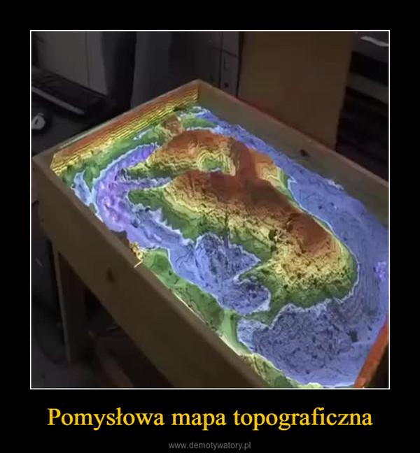 Pomysłowa mapa topograficzna –