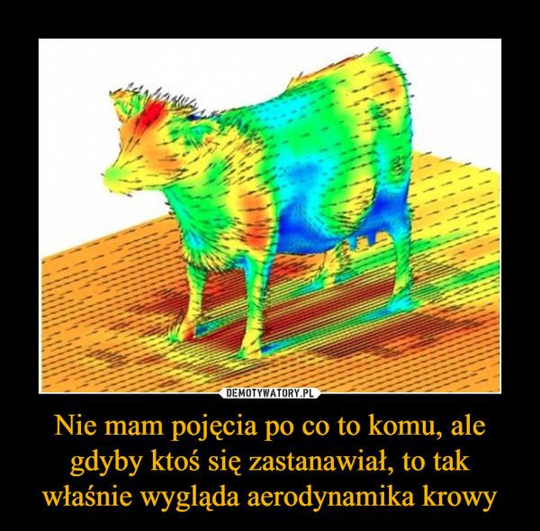 Nie mam pojęcia po co to komu, ale gdyby ktoś się zastanawiał, to tak właśnie wygląda aerodynamika krowy –