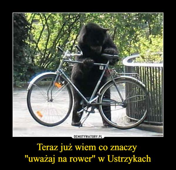 Teraz już wiem co znaczy ''uważaj na rower'' w Ustrzykach –