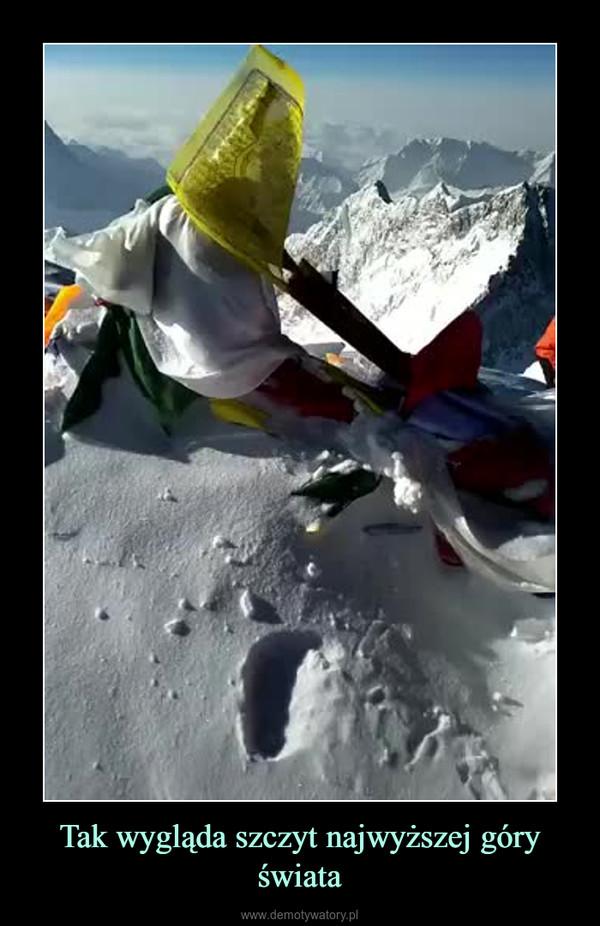 Tak wygląda szczyt najwyższej góry świata –
