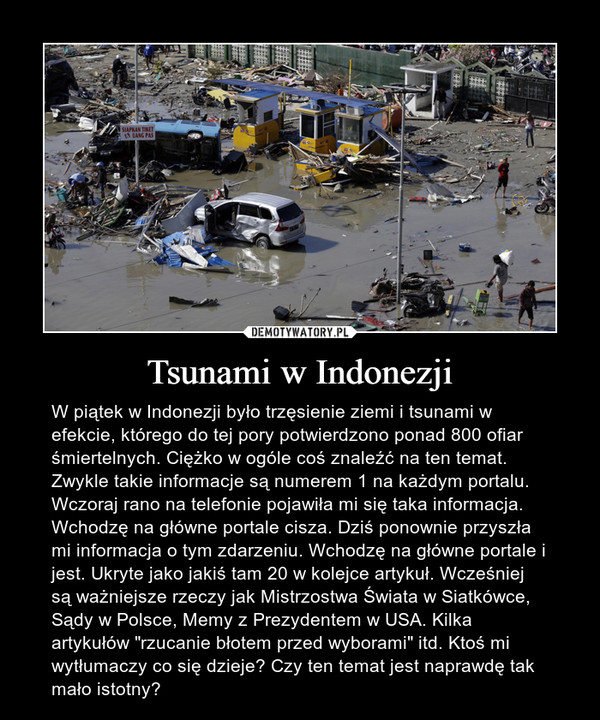 Tsunami w Indonezji