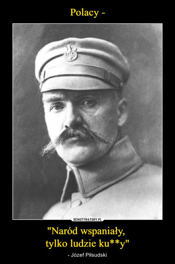"""""""Naród wspaniały, tylko ludzie ku**y"""" – - Józef Piłsudski"""